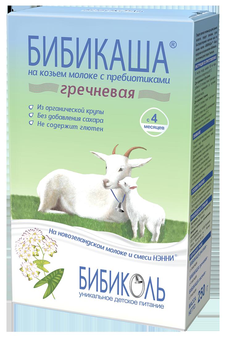 БИБИКАША<sup>®</sup> Гречневая на козьем молоке с пребиотиками, 200 г